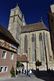 Kyrka av St Jacob i Rothenburg obder Tauber, Tyskland Royaltyfri Foto