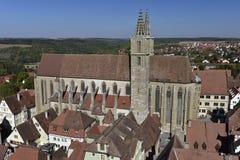 Kyrka av St Jacob i Rothenburg obder Tauber, Tyskland Royaltyfri Fotografi