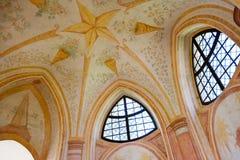 Kyrka av St John av Nepomuk, Zelena Hora, UNESCO, Zdar nad Saza Royaltyfri Bild