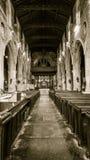 Kyrka av St John Baptist Nave Royaltyfri Bild