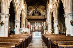 Kyrka av St John Baptist Nave A Royaltyfri Fotografi