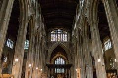 Kyrka av St John Baptist Nave C Arkivbild