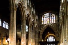 Kyrka av St John Baptist Nave D Arkivfoton