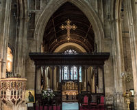 Kyrka av St John Baptist Nave E Arkivbild