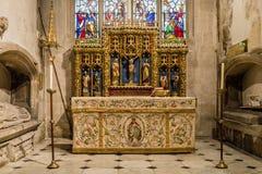 Kyrka av St John Baptist St Catherine Chapel Altar A Fotografering för Bildbyråer