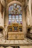 Kyrka av St John Baptist St Catherine Chapel Altar B Royaltyfria Foton