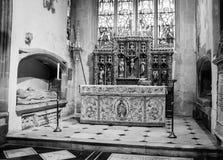 Kyrka av St John Baptist St Catherine Chapel Altar C Arkivfoton