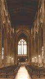 Kyrka av St John den Baptist Nave sikten från altare A Fotografering för Bildbyråer