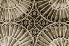 Kyrka av St John det Baptist St Catherine Chapel Vault taket Arkivfoto