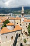 Kyrka av St John i Budva, Montenegro Arkivfoto