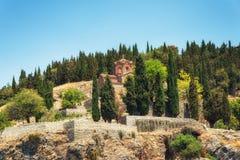 Kyrka av St John, Ohrid, Makedonien royaltyfria foton