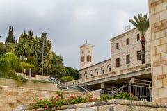 Kyrka av St Joseph i Nazareth, Israel Royaltyfria Foton