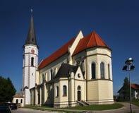 Kyrka av St jungfruliga Mary i Dobova slovenia Arkivfoton