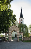 Kyrka av St jungfruliga Mary i Dobova slovenia Arkivfoto