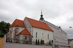 Kyrka av St Lawrence, Pozega, Kroatien Fotografering för Bildbyråer