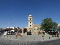 Kyrka av St Lazarus, Larnaca, Cypern Det baseras på det verkliga bibliska teckenet Lazarus, som flydde Israel från förföljelse royaltyfria foton