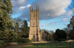 Kyrka av St Leonard, Tortworth, Gloucestershire, UK arkivbilder