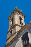 Kyrka av St Lorenzo San Severo Puglia italy Arkivbilder