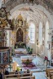 Kyrka av St Margaret i Oberperfuss, Österrike fotografering för bildbyråer