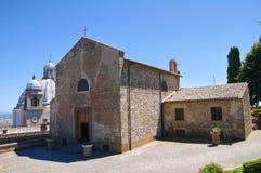 Kyrka av St. Maria della Neve. Montefiascone. Lazio. Italien. Arkivfoton