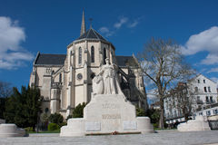 Kyrka av St Martin i Pau royaltyfri foto