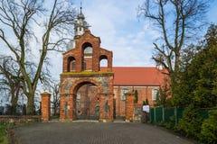 Kyrka av St Martin i Znin, Polen Arkivbild