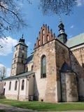 Kyrka av St Martin, Opatow, Polen Arkivbilder