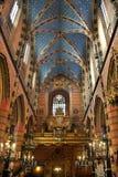 Kyrka av St Mary - Krakow - Polen Arkivfoton