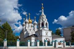 Kyrka av St Nicholas av Myra i Pyzhi, Bolshaya Ordynka, Mosco Royaltyfri Fotografi