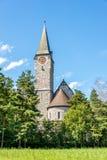 Kyrka av St Nicholas i Balzers royaltyfri bild