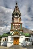 Kyrka av St Nicholas i Khamovniki Arkivbilder