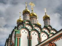 Kyrka av St Nicholas i Khamovniki Arkivbild