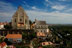 Kyrka av St Nicholas i Znojmo, Fotografering för Bildbyråer