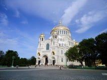 Kyrka av St Nicholas, Kronshtadt, Ryssland Arkivfoton