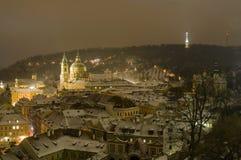 Kyrka av St.Nicolas i Mala Strana av Prague royaltyfria bilder