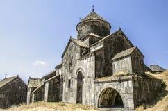 Kyrka av St Nshan med ingången till bokförvaringsrummet i kloster Royaltyfria Foton