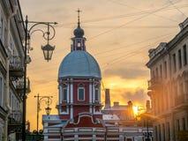 Kyrka av St Panteleimon botemedelen, St Petersburg, Ryssland royaltyfri bild
