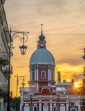 Kyrka av St Panteleimon botemedelen, St Petersburg, Ryssland fotografering för bildbyråer