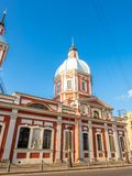 Kyrka av St Panteleimon botemedelen, St Petersburg, Ryssland arkivbilder