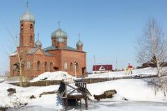 Kyrka av St Panteleimon botemedelen, Ryssland arkivbilder