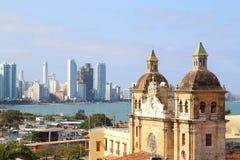 Kyrka av St Peter Claver i Cartagena, Colombia royaltyfria foton