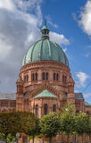 Kyrka av St Peter, det mer ung, Strasbourg arkivfoton