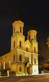 Kyrka av St Peter och Paul i Bardejov slovakia royaltyfria foton