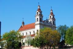 Kyrka av St.-Raphael ärkeängeln i Vilnius arkivbilder