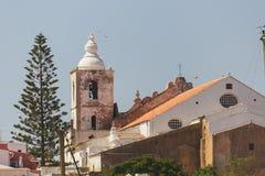 Kyrka av St Sebastian/för Sebastiï för nolla för Igreja de Sï ¿ ½ nollan för ½ ¿, Lagos, port arkivbild