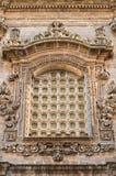Kyrka av St. Sebastiano. Galatone. Puglia. Italien. Arkivfoto