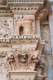 Kyrka av St. Sebastiano. Galatone. Puglia. Italien. Arkivfoton