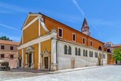 Kyrka av St Sime, Zadar, Kroatien Royaltyfria Foton