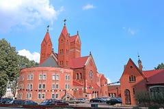 Kyrka av St Simeon och St Elena i Minsk Arkivbilder