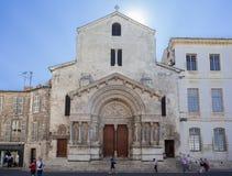 Kyrka av St Trophime Arles Provence Frankrike Royaltyfri Fotografi